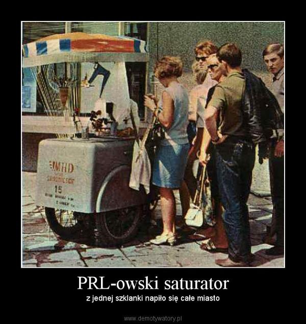 PRL-owski saturator – z jednej szklanki napiło się całe miasto