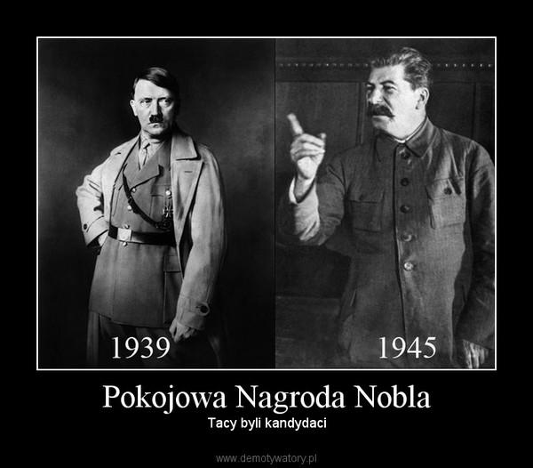 Pokojowa Nagroda Nobla – Tacy byli kandydaci