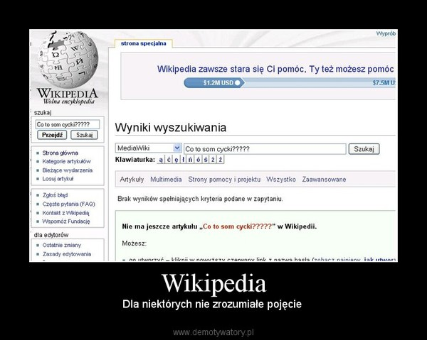 Wikipedia – Dla niektórych nie zrozumiałe pojęcie