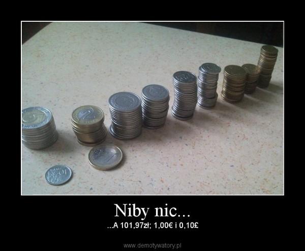 Niby nic... – ...A 101,97zł; 1,00€ i 0,10£