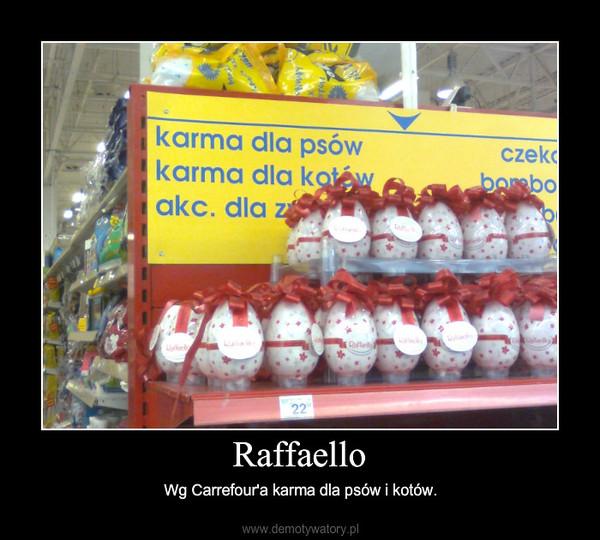Raffaello – Wg Carrefour'a karma dla psów i kotów.