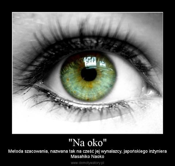 """""""Na oko"""" – Metoda szacowania, nazwana tak na cześć jej wynalazcy, japońskiego inżynieraMasahiko Naoko"""