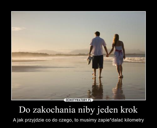 Do zakochania niby jeden krok
