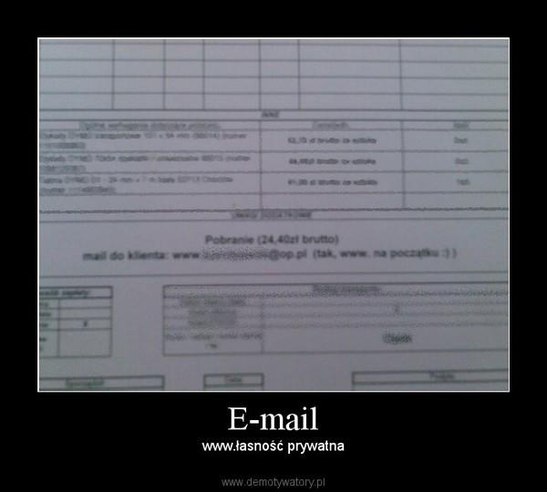 E-mail – www.łasność prywatna