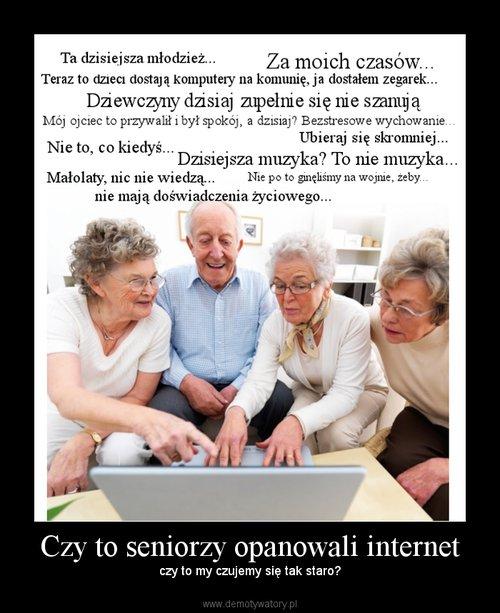 Czy to seniorzy opanowali internet