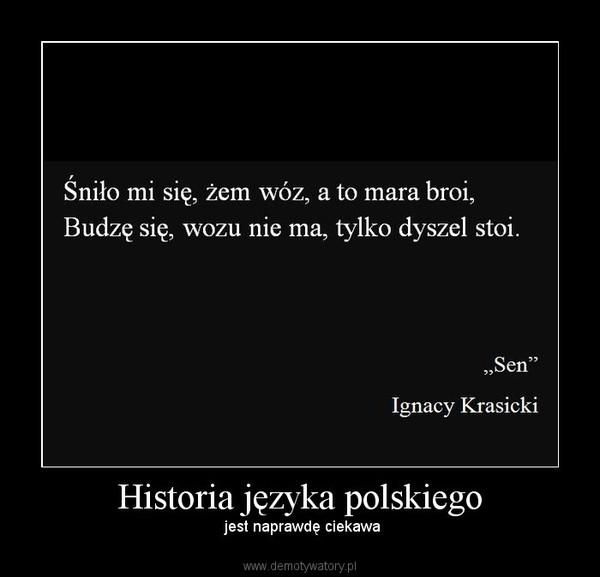 Historia języka polskiego – jest naprawdę ciekawa