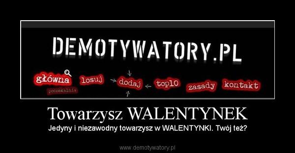 Towarzysz WALENTYNEK – Jedyny i niezawodny towarzysz w WALENTYNKI. Twój też?