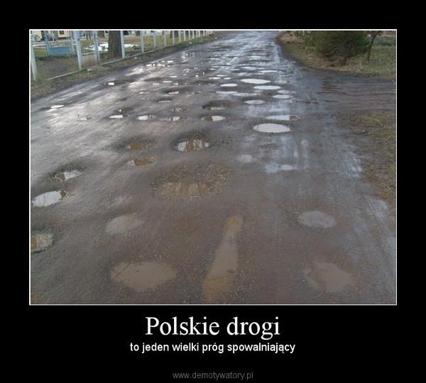 Polskie drogi – to jeden wielki próg spowalniający