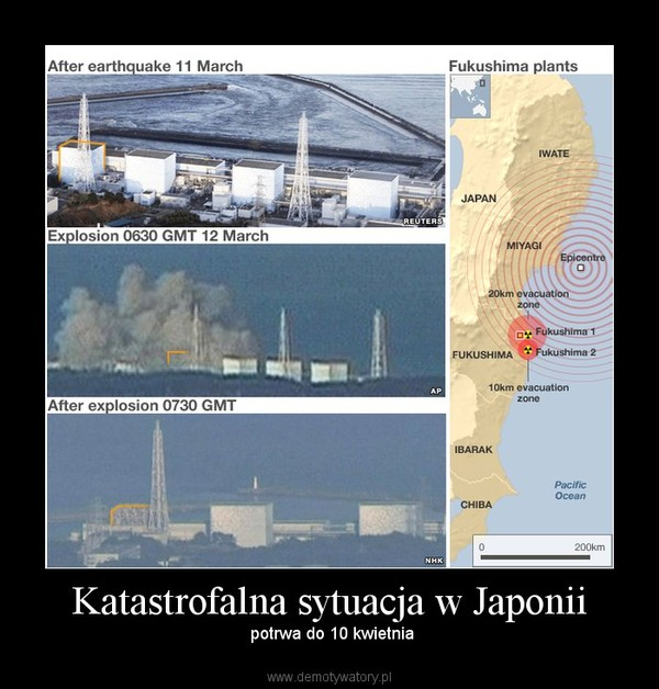 Katastrofalna sytuacja w Japonii – potrwa do 10 kwietnia