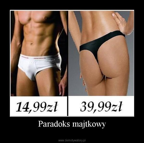 Paradoks majtkowy –