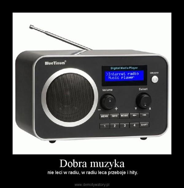 Dobra muzyka – nie leci w radiu, w radiu leca przeboje i hity.