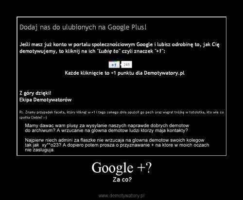 Google +?