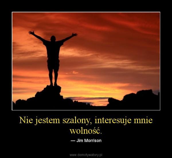 Nie jestem szalony, interesuje mnie wolność. – — Jim Morrison