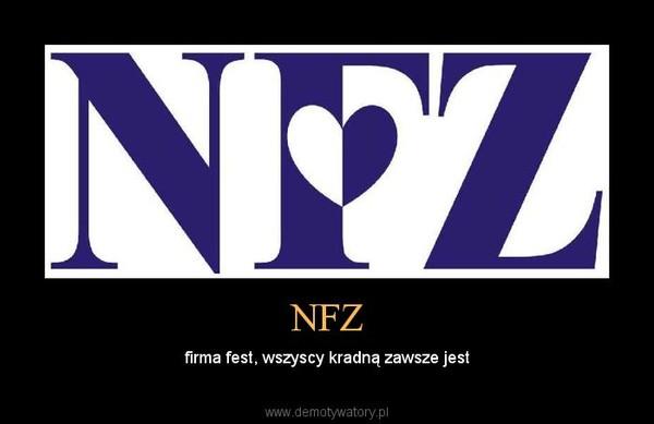 NFZ – firma fest, wszyscy kradną zawsze jest