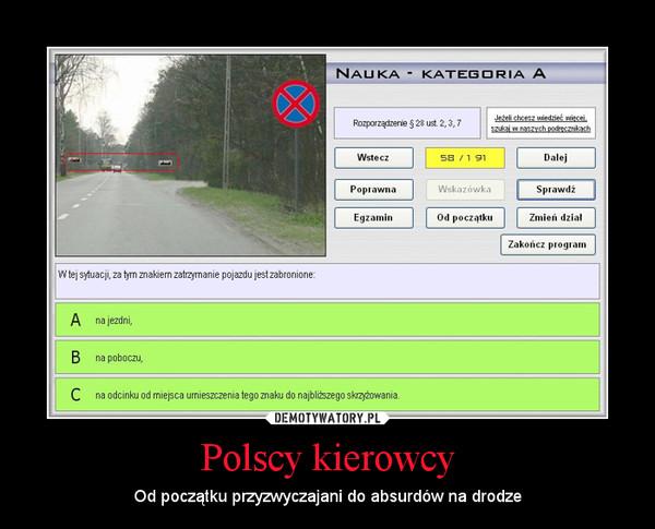Polscy kierowcy – Od początku przyzwyczajani do absurdów na drodze