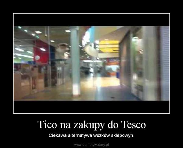 Tico na zakupy do Tesco – Ciekawa alternatywa wózków sklepowyh.