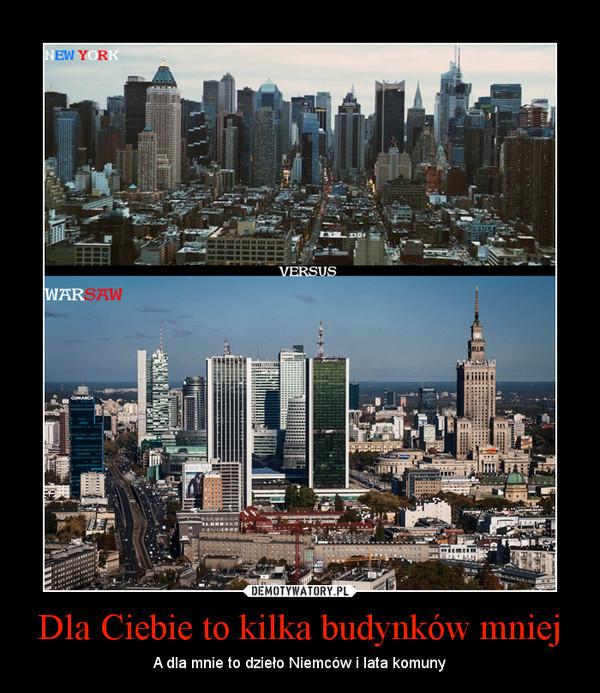 Dla Ciebie to kilka budynków mniej – A dla mnie to dzieło Niemców i lata komuny