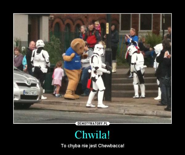 Chwila! – To chyba nie jest Chewbacca!