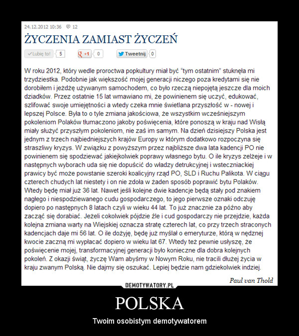 POLSKA – Twoim osobistym demotywatorem