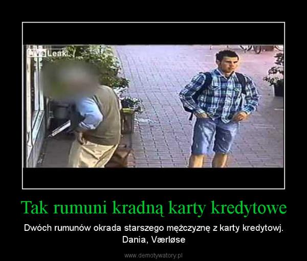 Tak rumuni kradną karty kredytowe – Dwóch rumunów okrada starszego mężczyznę z karty kredytowj. Dania, Værløse