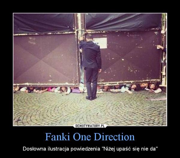 """Fanki One Direction – Dosłowna ilustracja powiedzenia """"Niżej upaść się nie da"""""""
