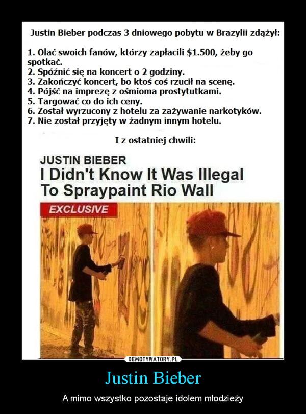 Justin Bieber – A mimo wszystko pozostaje idolem młodzieży