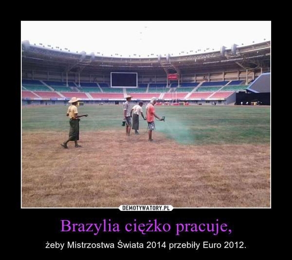 Brazylia ciężko pracuje, – żeby Mistrzostwa Świata 2014 przebiły Euro 2012.