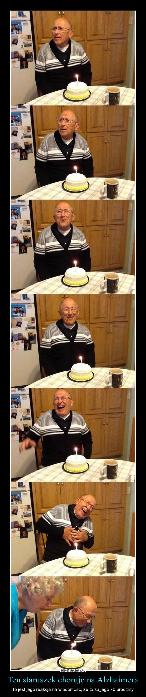 Ten staruszek choruje na Alzhaimera – To jest jego reakcja na wiadomość, że to są jego 70 urodziny