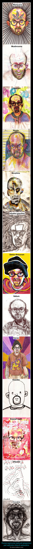 Pewien mężczyzna malował autoportrety pod wpływem różnych narkotyków – Tak właśnie działają na umysł