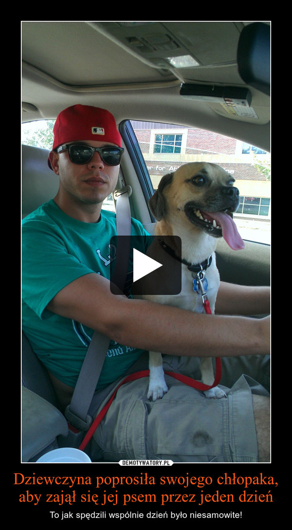 Dziewczyna poprosiła swojego chłopaka, aby zajął się jej psem przez jeden dzień – To jak spędzili wspólnie dzień było niesamowite!