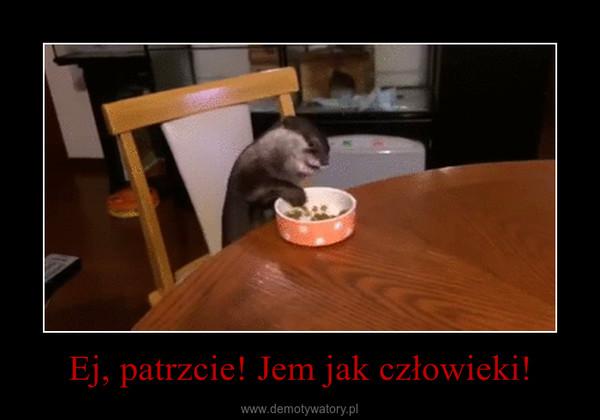 Ej, patrzcie! Jem jak człowieki! –