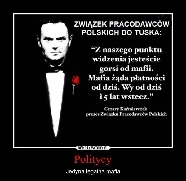 Politycy – Jedyna legalna mafia