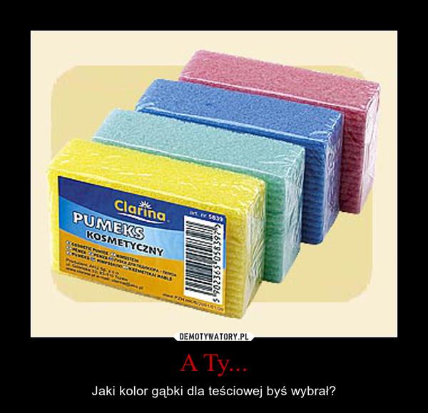 A Ty... – Jaki kolor gąbki dla teściowej byś wybrał?