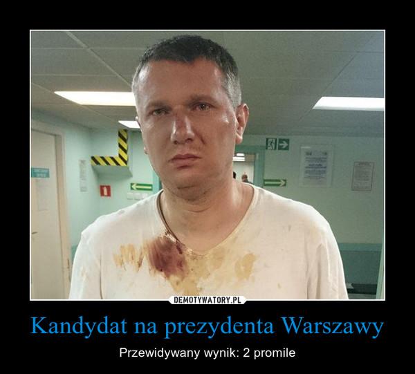 Kandydat na prezydenta Warszawy – Przewidywany wynik: 2 promile