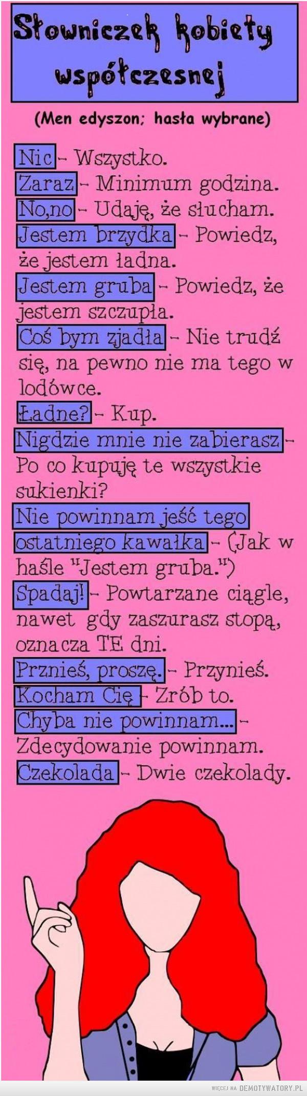 Słowniczek kobiety –