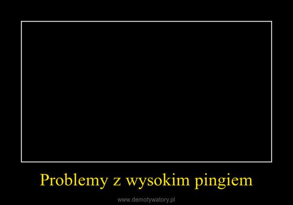 Problemy z wysokim pingiem –