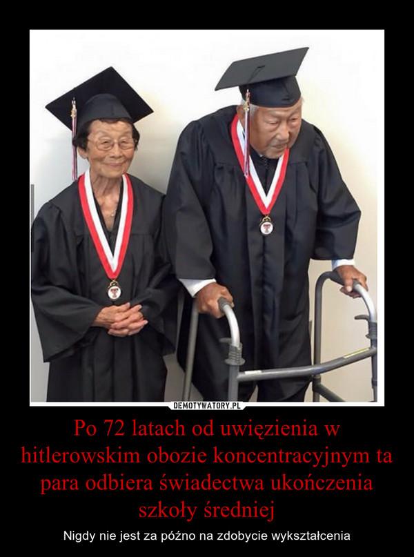 Po 72 latach od uwięzienia w hitlerowskim obozie koncentracyjnym ta para odbiera świadectwa ukończenia szkoły średniej – Nigdy nie jest za późno na zdobycie wykształcenia
