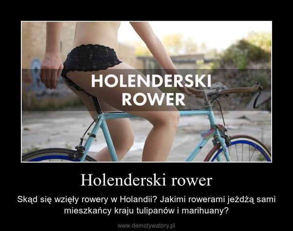 Holenderski rower – Skąd się wzięły rowery w Holandii? Jakimi rowerami jeżdżą sami mieszkańcy kraju tulipanów i marihuany?