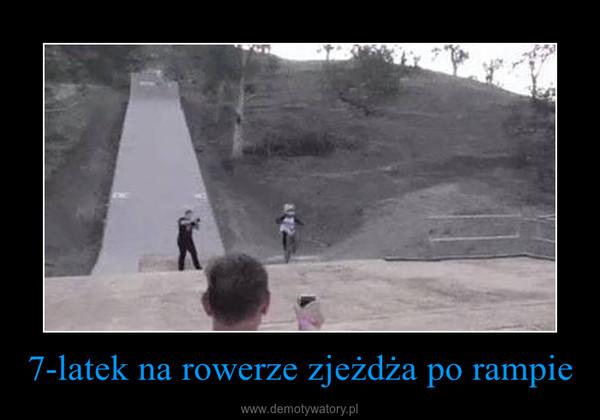 7-latek na rowerze zjeżdża po rampie –