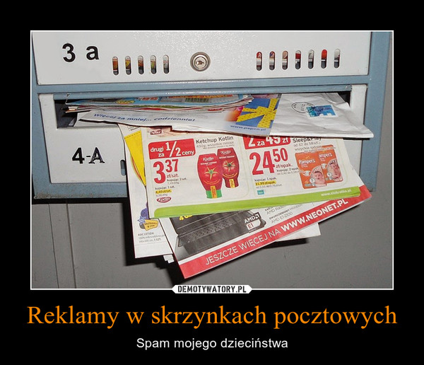 Reklamy w skrzynkach pocztowych – Spam mojego dzieciństwa