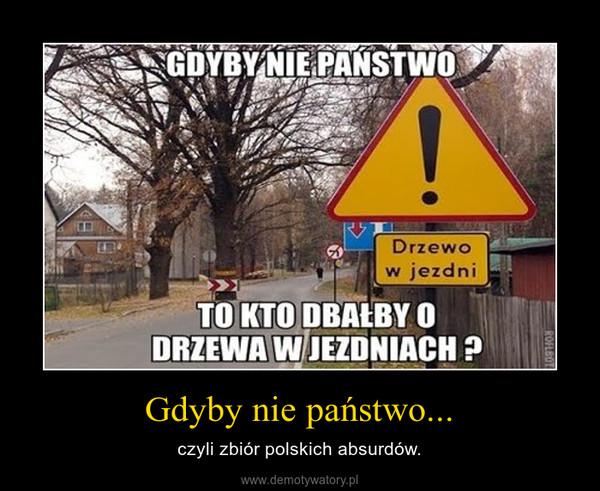 Gdyby nie państwo... – czyli zbiór polskich absurdów.