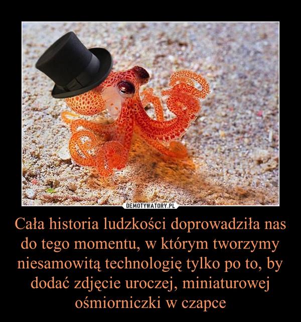 Cała historia ludzkości doprowadziła nas do tego momentu, w którym tworzymy niesamowitą technologię tylko po to, by dodać zdjęcie uroczej, miniaturowej ośmiorniczki w czapce –