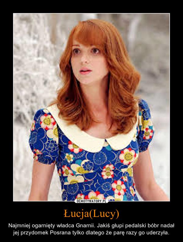Łucja(Lucy) – Najmniej ogarnięty władca Gnarnii. Jakiś głupi pedalski bóbr nadał jej przydomek Posrana tylko dlatego że parę razy go uderzyła.