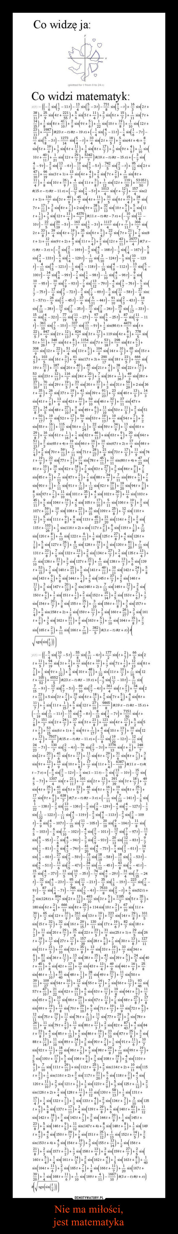 Nie ma miłości,jest matematyka –