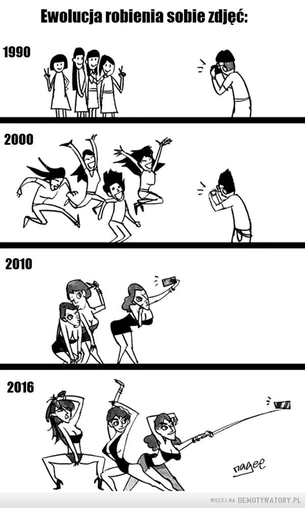 Ewolucja robienia zdjęć –