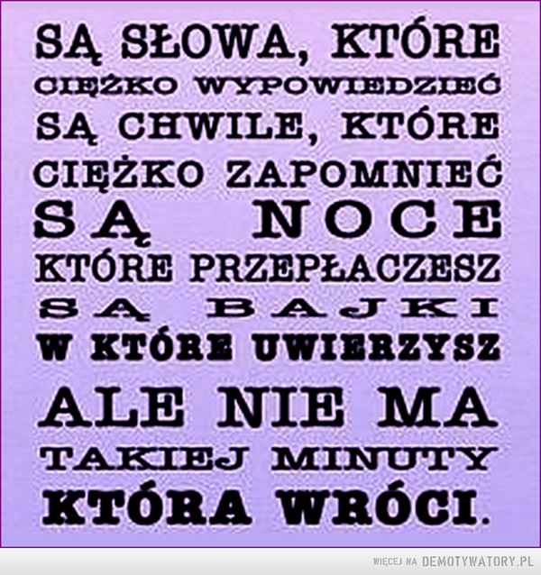 Są słowa... –