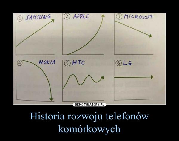 Historia rozwoju telefonów komórkowych –