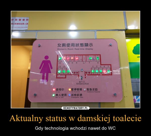 Aktualny status w damskiej toalecie – Gdy technologia wchodzi nawet do WC