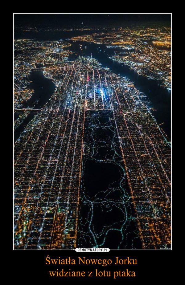 Światła Nowego Jorku widziane z lotu ptaka –