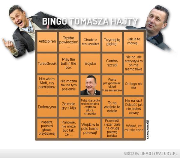 Bingo Tomasza Hajty –